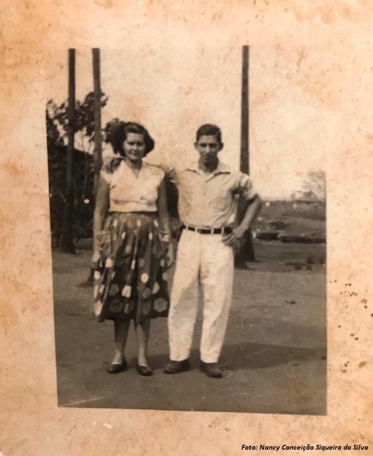 Sra. Maria Leonel Menezes e  o Sr. Helio Francisco Siqueira
