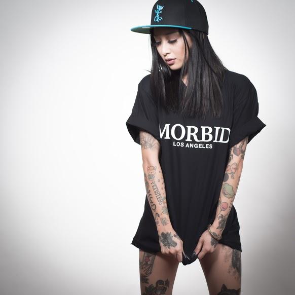 Morbid Los Angeles Streetwear Black Sporty Sweater