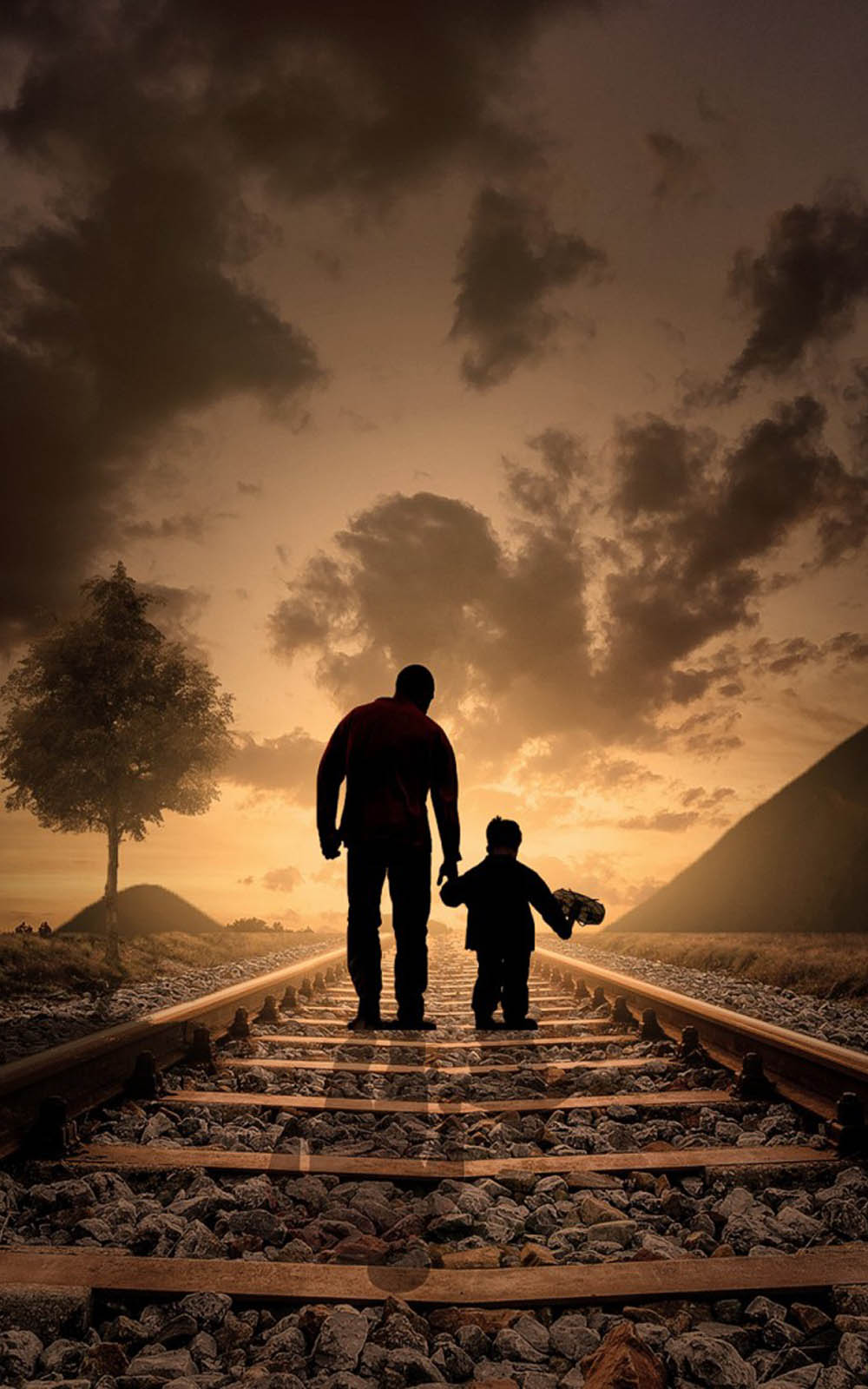 Love Quotes Wallpapers For Android Phones Download Father And Son Evening Walk Free Pure 4k Ultra Hd