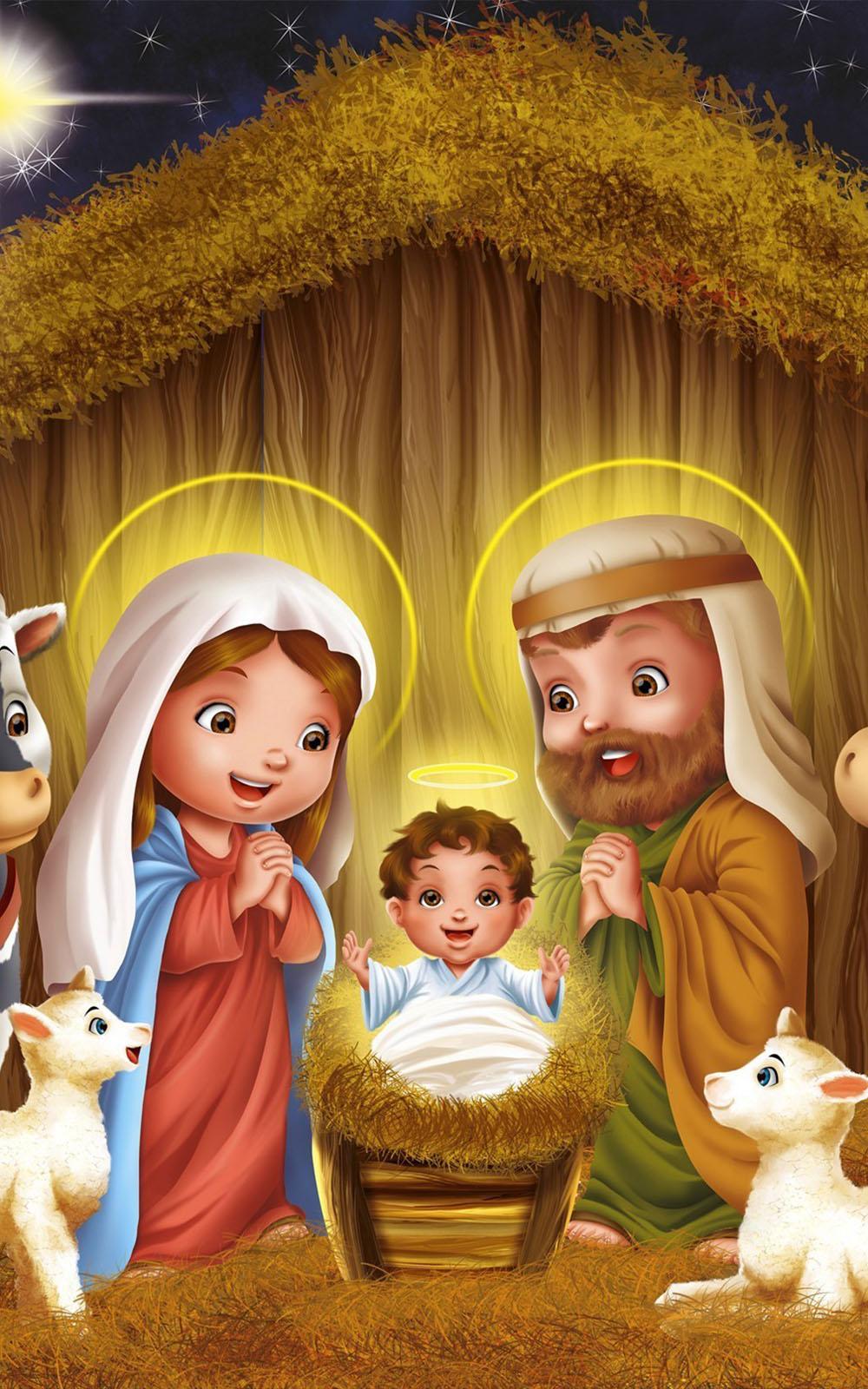 Cute Cartoon Hd Wallpapers For Mobile Download Christmas Jesus Born Artwork Free Pure 4k Ultra