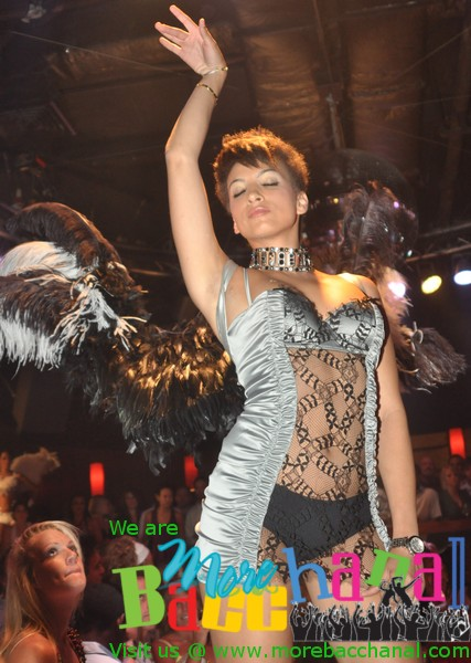Jamie-Leigh Brooks poses at a Tantra performance of Wings of Love - a Lady B Productions fashion show!