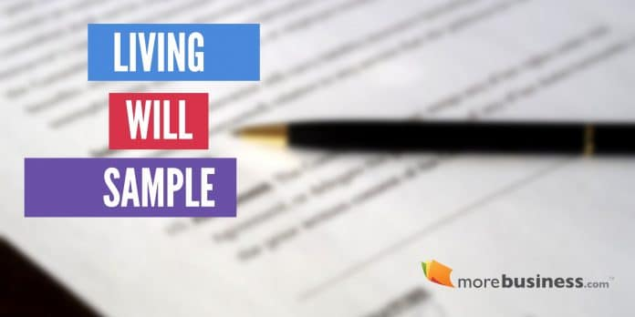 Living Will Sample - Online Living Will Template and Blank Will Form