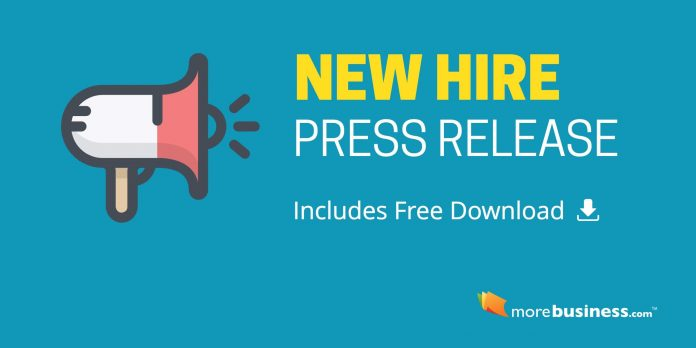 New Hire Press Release - Copy/Paste This Format and Example