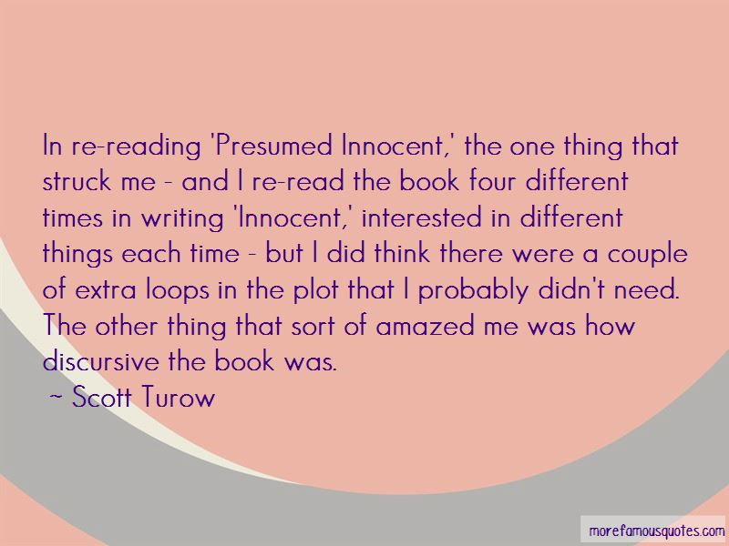 Presumed Innocent Quotes top 10 quotes about Presumed Innocent from
