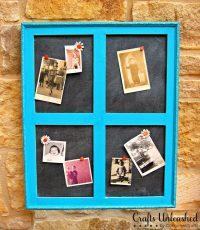 Build Your Own Window Frame Cork Board - Morena's Corner