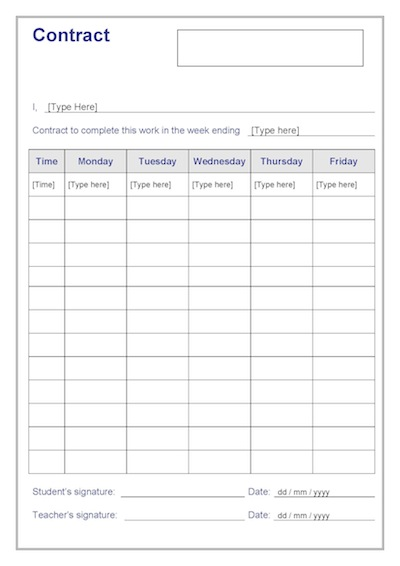 Student Contracts Years 4-6 Template Teacher Timesavers Templates - Student Contract Templates