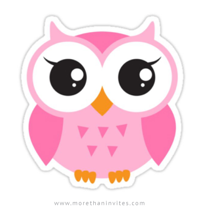 Cute Girl And Boy Wallpaper Cute Pink Owl Sticker More Than Invites