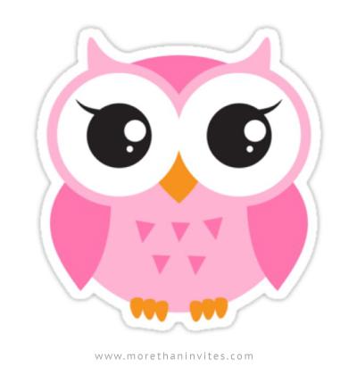 Pink Girl Cartoon Wallpaper Cute Pink Owl Sticker More Than Invites