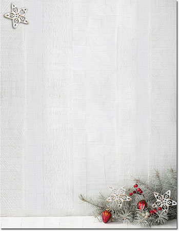 Imprintable Blank Stock - Woodsy Pine Holiday Letterhead by