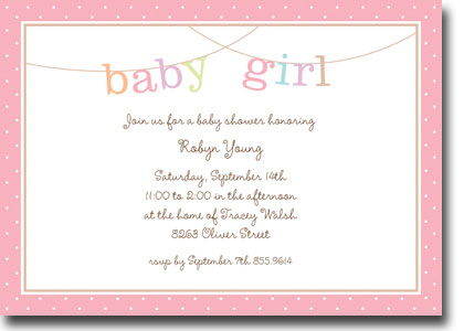Boatman Geller - Banner Baby Girl Birth Announcements/Invitations (H - Baby Girl Birth Announcements