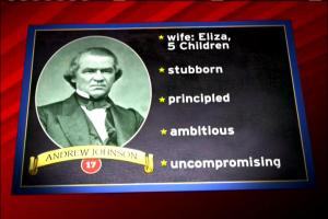 President Andrew Johnson checklist