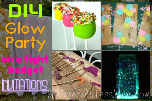 DIY Glow Party Teen Birthday - Free Printable Neon Invitations