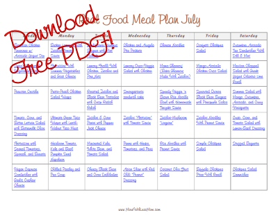 July 2014 Real Food Monthly Meal Plan - More With Less Mom