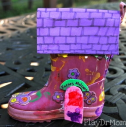 Boot Fairy House from Play Dr Mom