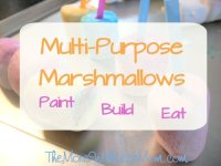 Multi-Purpose Marshmallows: Paint, Build, Eat