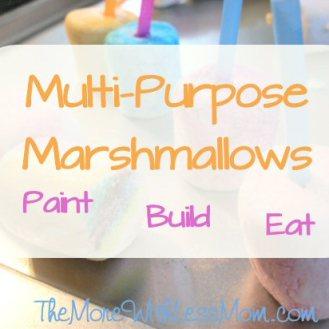 Multi-Purpose Marshmallows: Paint, Build, Eat