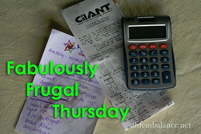 Fabulously Frugal Thursday