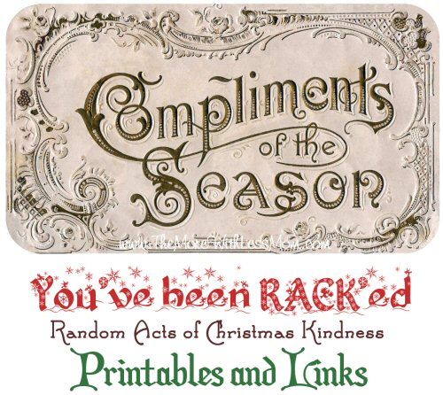 Random Acts of Christmas Kindness Advent Calendar – RACK Printables and Links