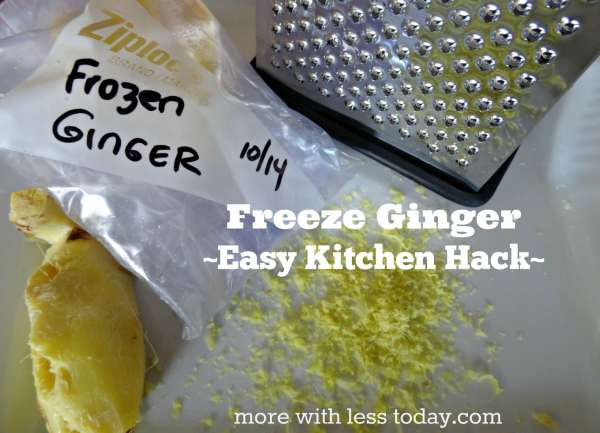 freeze ginger easy kitchen hack