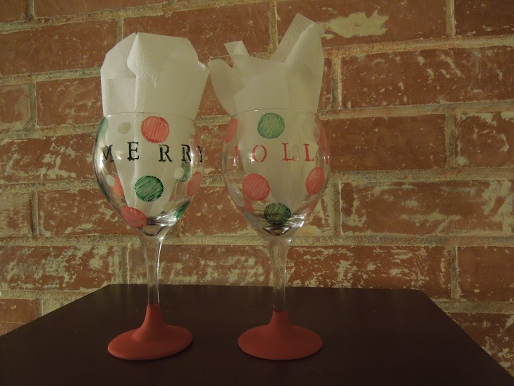 painted wine glasses finished