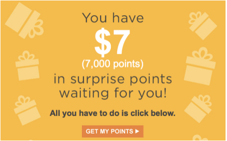 Did you get surprise points today?, Sears free points, redeem Surprise points for Sears, Shop Your Way point system, shop for free at Sears, join SYW