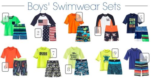 boys swimwear sets