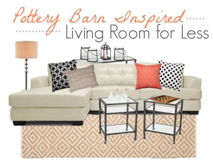 Pottery Barn Inspiration: Living Room Decor Using Black, White and Pink, get the look of Pottery Barn on a budget, copycat decor Pottery Barn, budget home
