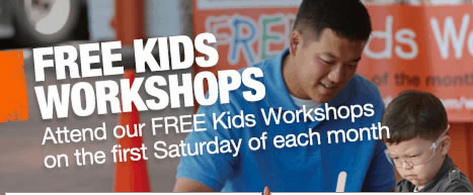 free home depot workshops