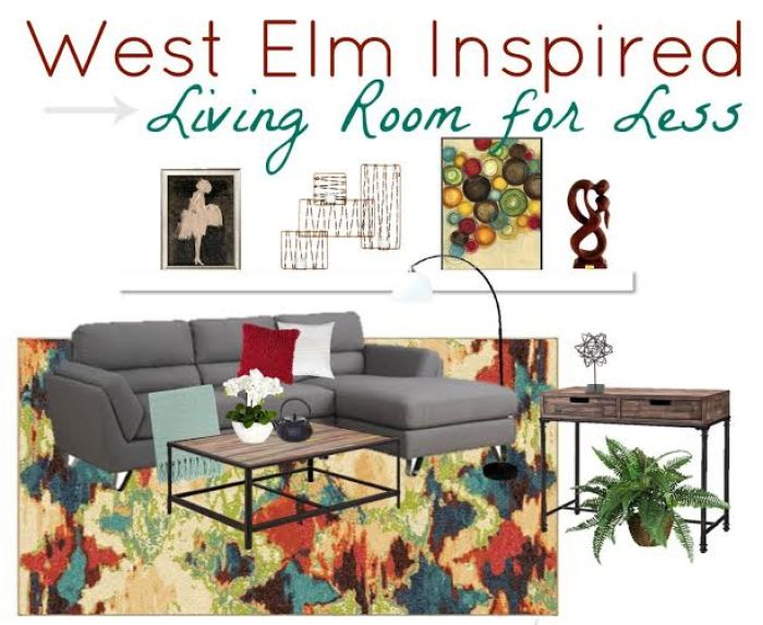 Do you love the look of West Elm but not the price? We put together a West Elm Inspired Living Room for Less with look-a-like items from Amazon and Target.
