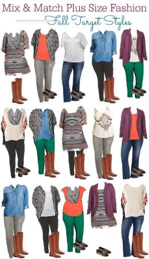 Target Style: Plus Size Mix and Match Fall Fashion Board ...
