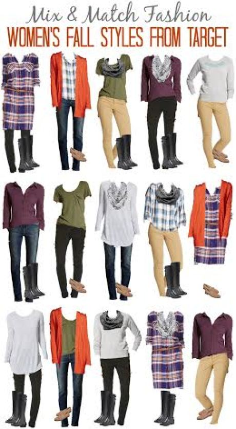 Target fall style, mix and match fashion board with a few key pieces, inexpensive fall wardrobe from Target, on trend fall fashion on a budget, Target fall