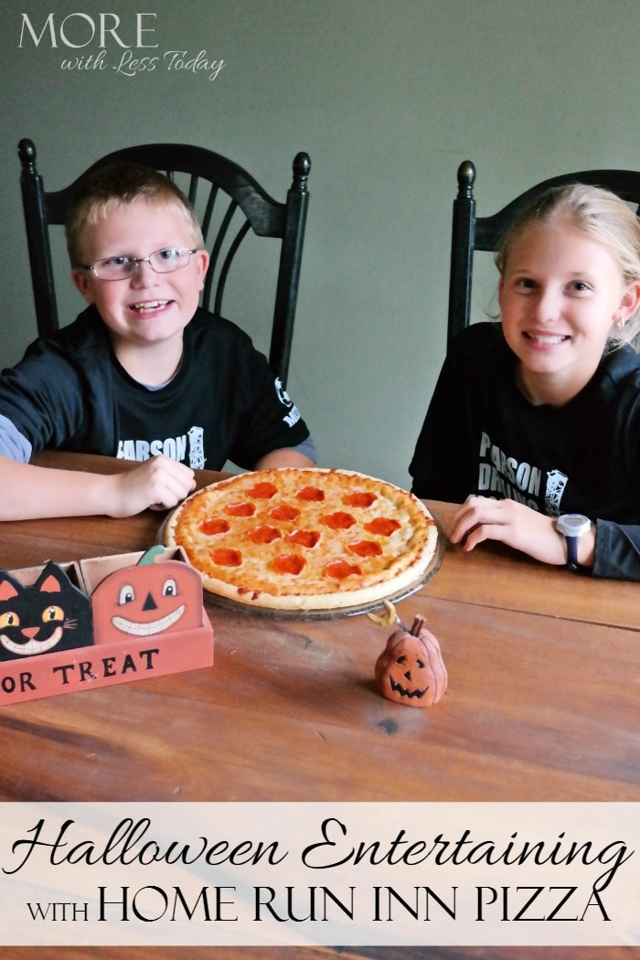 Halloween Entertaining with Home Run Inn Pizza - More With Less Today - HRI Pizza makes Halloween entertaining easy with all natural ingredients.