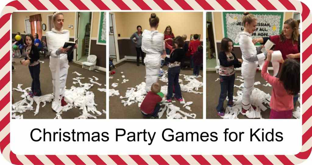 A Fun Game for Kids to Keep Them Busy, how to keep the kids busy on Christmas, toilet paper Christmas game, More with Less Today free family fun