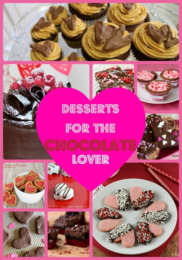 Valentine's Day Desserts for the Chocolate Lover, 10 favorite Valentine's Day desserts, chocolate desserts, easy chocolate desserts food bloggers, recipes