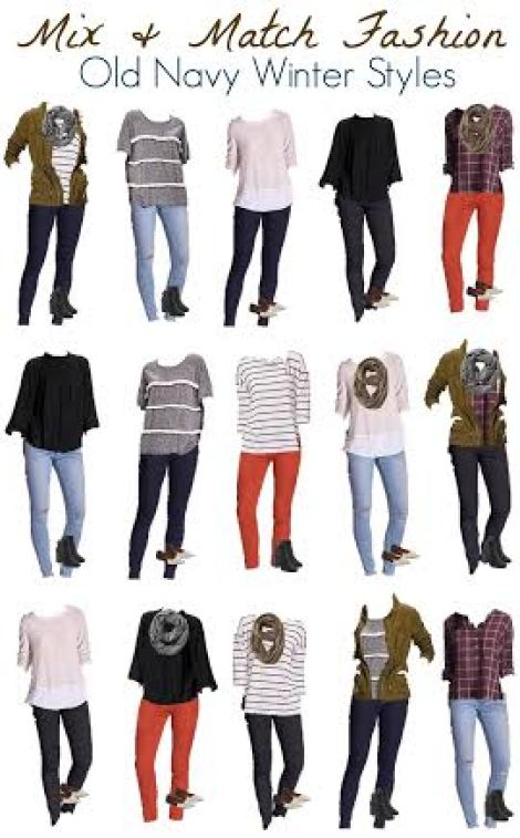 mix and match old navy fashion 1-18-16
