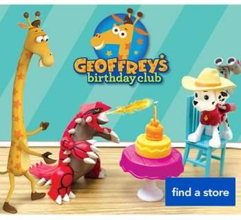 Geoffreys Birthday Club store event