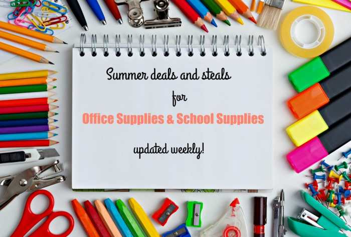 Are you looking for summer deals and steals for office supplies? We have them and update them every week. Find the hot deals for your home and office.