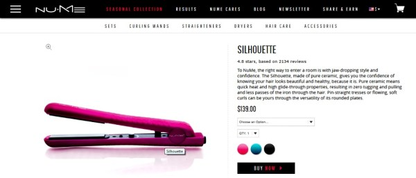 Are you looking for a hot deal on a ceramic flat iron? The one we found from NuMe is highly rated and comes with free shipping + a free hair wrap.