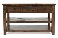 Artisans Oak Sofa Table   Mor Furniture for Less