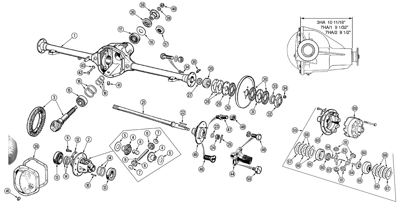 toyota front axle diagram