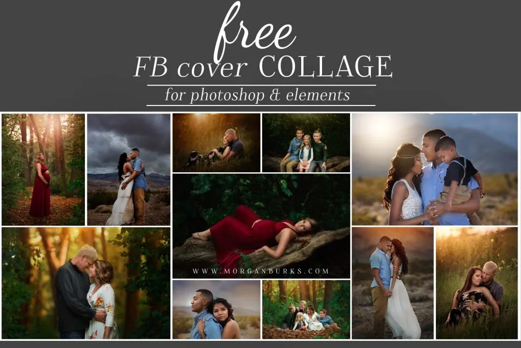 Free Facebook Cover Photo Template for Photoshop- Morgan Burks