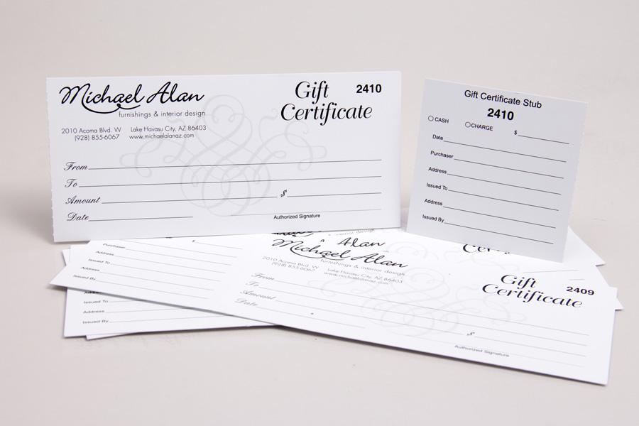 Custom Printed Gift Card Boxes  Folders Morgan Chaney