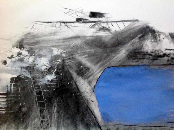 'Mineshaft', Charcoal on paper, 50 x 60 cm, £900