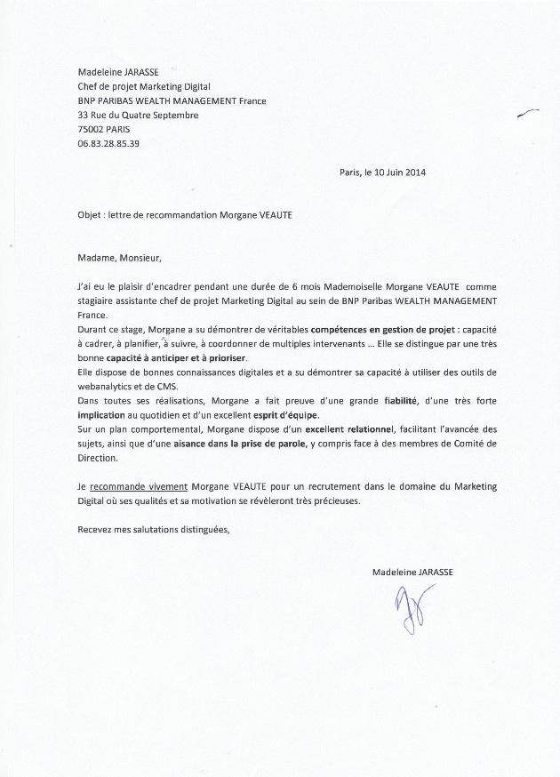 lettre de motivation bnp paribas