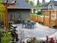 Custom Backyard on Calgary Infill - Morgan K Landscapes