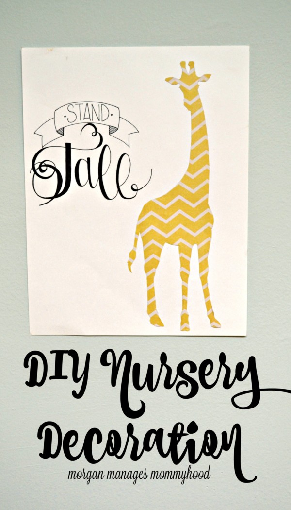 This DIY nursery decoration is simple, easy and adorable! Decorate your baby's room with a collection of them or make one or two to add some fun to a small space.