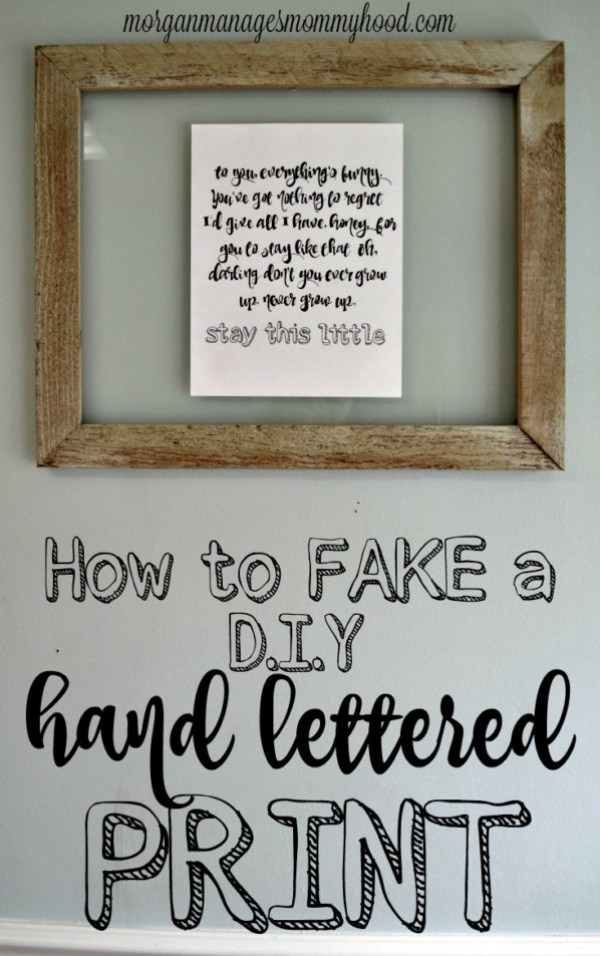 fake a hand lettered print