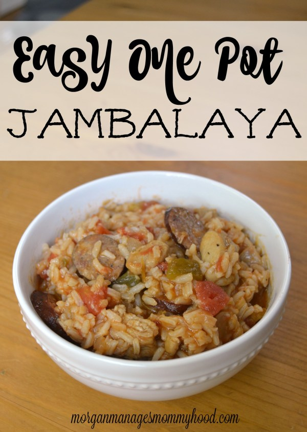 This super easy one pot jambalaya is sure to be a hit with your whole family! This one pot jambalaya can be made as spicy as you'd like, which makes it super family friendly. If you're looking for an easy one pot meal that is sure to please your whole family, you need to check out this meal!
