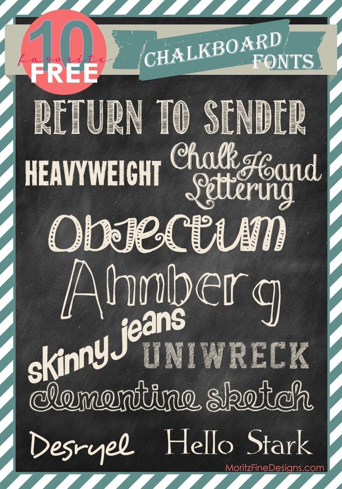 free FONT friday chalkboard fonts Moritz Fine Designs