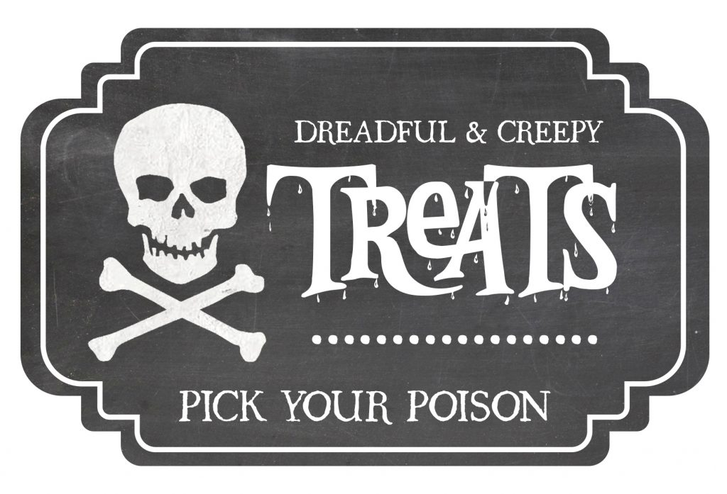 Halloween Candy Jar Label Free Printable Included